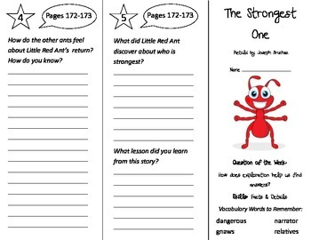 The Strongest One Trifold - Reading Street 2nd Grade Unit