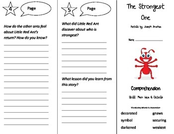 The Strongest One Trifold - Treasures 3rd Grade Unit 2 Week 1 (2009)