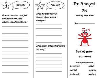The Strongest One Trifold - Treasures 3rd Grade Unit 6 Wee