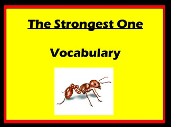 The Strongest One - Vocabulary Flipchart