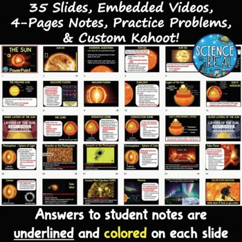 The Sun Interactive PowerPoint, Notes, and Kahoot! Quiz