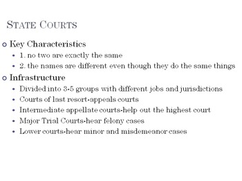 The Structure of American Courts