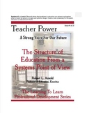 The Structure of Education From a Systems Point of View