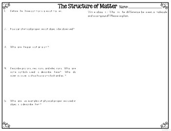 What is Matter? Leveled Texts for Differentiated Reading