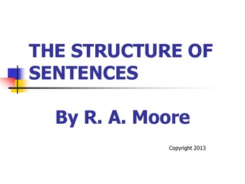 The Structure of Sentences