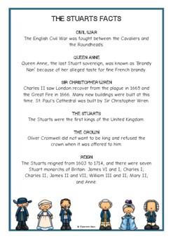 The Stuarts Fact Cards