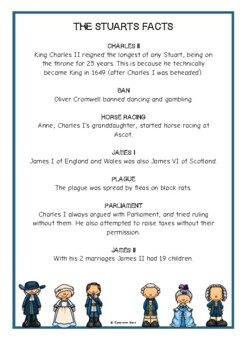 The Stuarts Fact Cards
