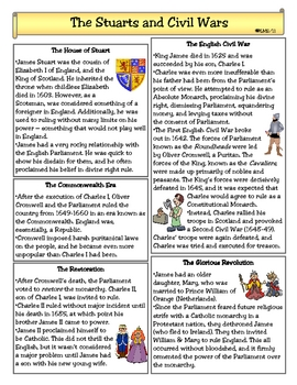 The Stuarts and English Civil Wars