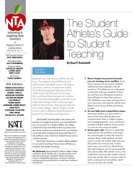 The Student Athlete's Guide to Student Teaching