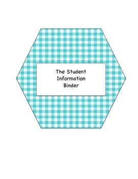 The Student Information Binder