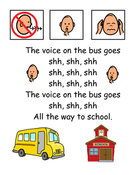 "The Student On The Bus: Social Story ""Song"" for Good Bus Behavior"