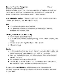 The Students Become the Teachers - 1 on 1 Instructions for student teaching