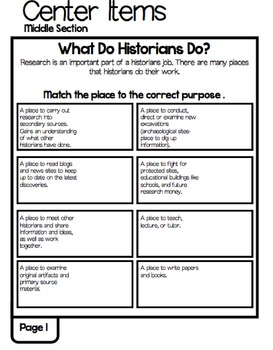 The Study of History Inquiry and Analysis Lap Book