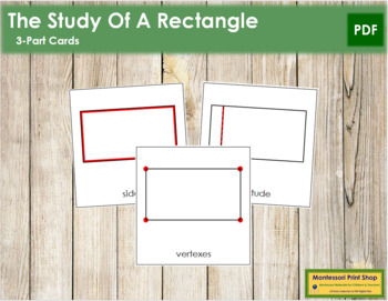 The Study of a Rectangle 3-Part Cards