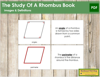 The Study of a Rhombus Book