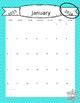 The Stylish 2016 Teaching Planner Calendar - FREE UPDATES