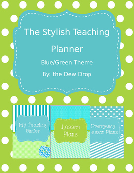 The Stylish 2016 Teaching Planner Calendar - Editable & FR