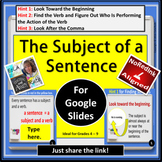 The Subject of a Sentence for Google Slides