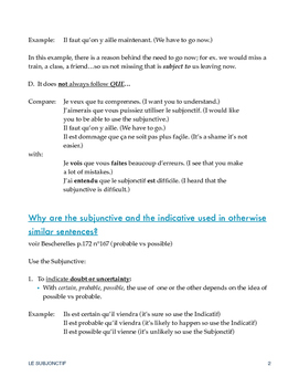 The Subjunctive tense in French - Le Subjonctif