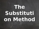 The Substitution Method with Animations