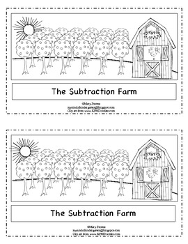 """The Subtraction Farm""-Word Problem Emergent Reader for Kindergarten"
