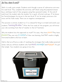The Subtraction Station {Grades 3-4 Combo Pack}