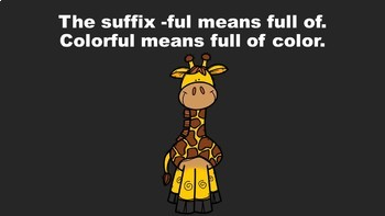 The Suffix Safari - A PowerPoint Game