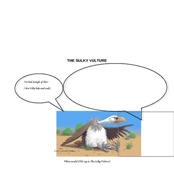 The Sulky Vulture by Sally Grindley Reading Lesson Plan and Activity