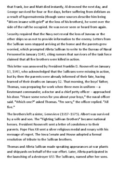 The Sullivan brothers Handout