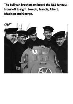 The Sullivan brothers US Navy World War Two Word Search