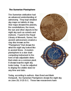 The Sumerian Planisphere