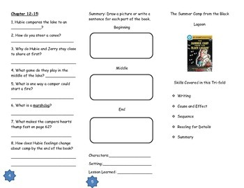 The Summer Camp from the Black Lagoon Comprehension Tri-fold