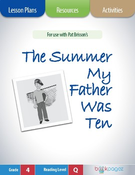 The Summer My Father Was Ten Lesson Plans & Activities Package (CCSS)