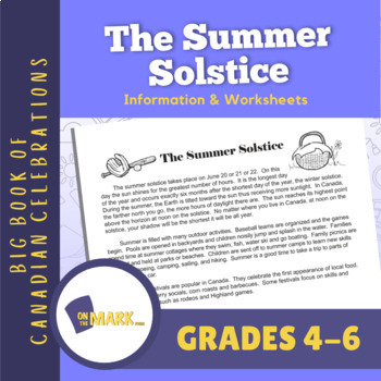 The Summer Solstice Lesson Plan Grades 4-6