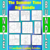 The Summer Time Big Bundle - 9 Coordinate Graphing Activities