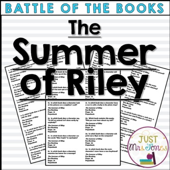 The Summer of Riley Battle of the Books Trivia Questions