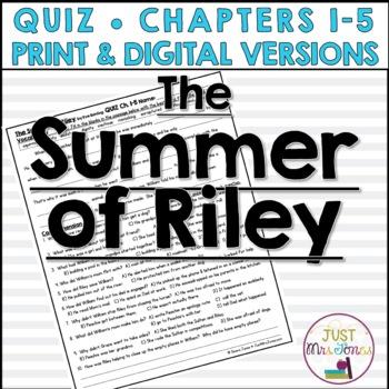 The Summer of Riley Quiz 1 (Ch. 1-5)
