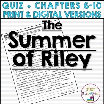 The Summer of Riley Quiz 2 (Ch. 6-10)