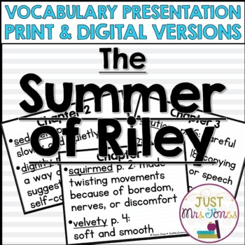 The Summer of Riley Vocabulary Presentation