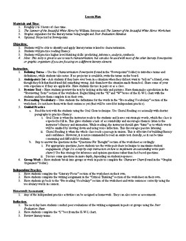 The Summer of the Beautiful White Horse Lesson Plan, Worksheets, Questions, Key
