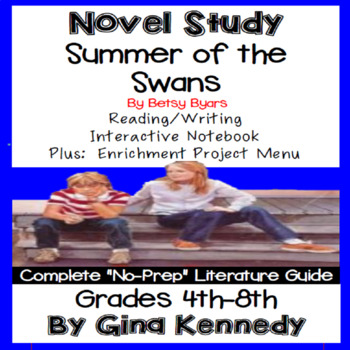 The Summer of the Swans Novel Study & Enrichment Project Menu
