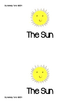 The Sun 1st grade reader