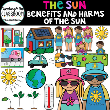 The Sun- Benefits and harms of the sun {Summer Clip Art}