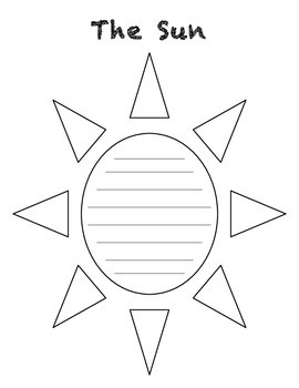 The Sun Concrete Poem Template