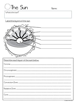 Sun - Graphic Organizer