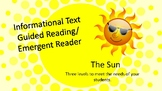 The Sun Informational Text Emergent Reader/ Guided Reading