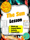 Sun Lesson (Presentation, notes, and activity)- Astronomy Unit Printable