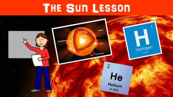 The Sun No Prep Lesson with Power Point, Worksheet, and Vocabulary Matching