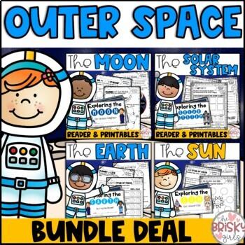 The Sun, Moon, & Earth Solar System Readers & Printables BUNDLE