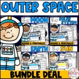 The Sun, Moon, & Earth Solar System Readers & Printables BUNDLE